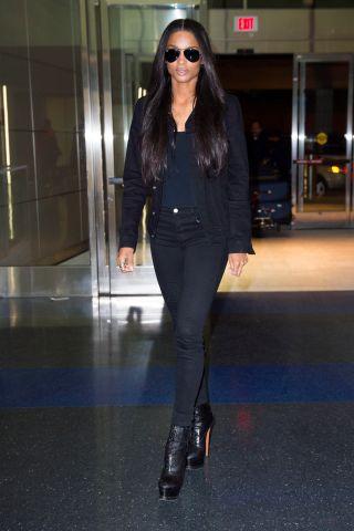 Ciara leaves the JFK airport