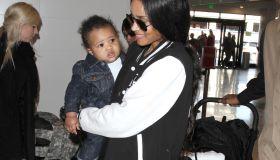 Ciara and baby Future at LAX