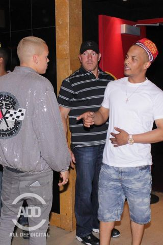 Evan Ross, T.I at all def comedy show