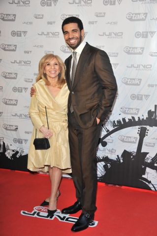 Drake and mother, Sandi Graham, at Songwriters Hall of Fame