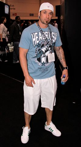 Justin Bieber's dad, Jeremy Bieber at UFC 129 Fan Expo in Toronto, Canada