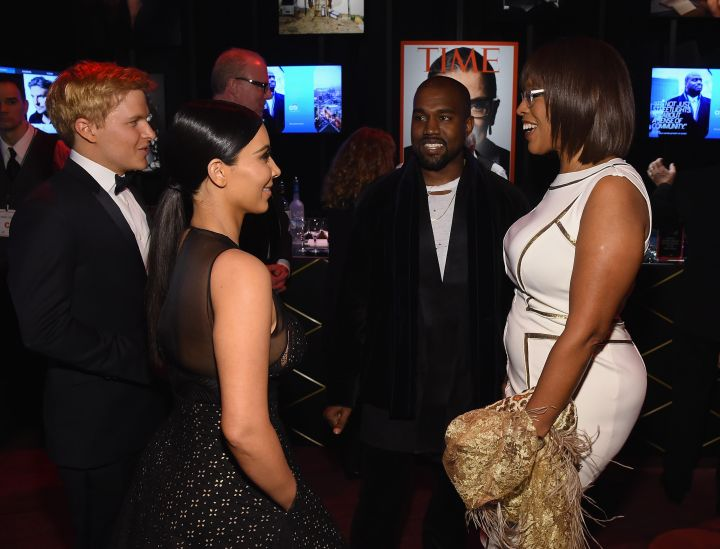 The Wests share a laugh with Gayle King.