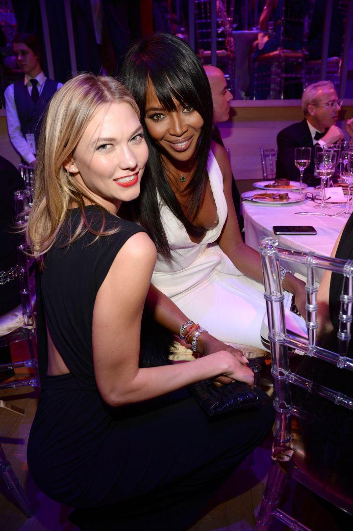 Karlie Kloss and Naomi Campbell.