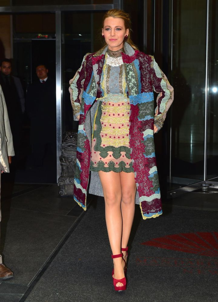 """Blake Lively was spotted leaving her NYC hotel on Wednesday afternoon, en route to the Apple Store Q&A for """"The Age of Adaline."""""""