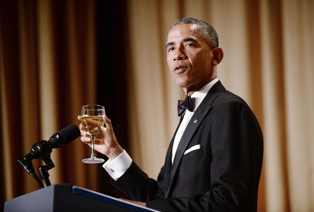 President Obama making his speech