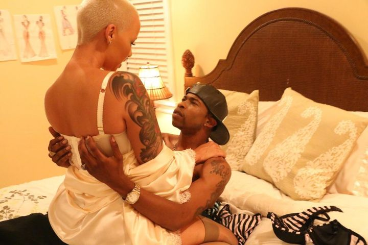 """Marcus is now fooling around with Amber Rose for their new movie """"Sister Code."""""""