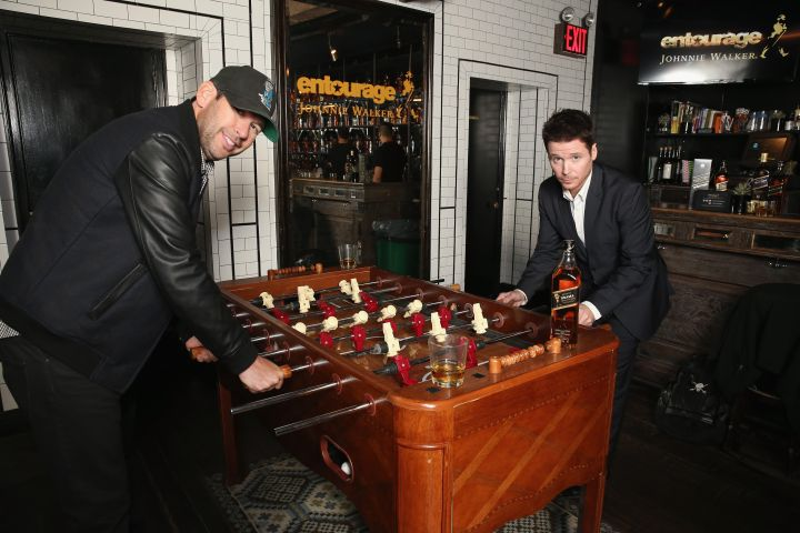"""Doug Ellin and Director Kevin Connolly were spotted having a good time at the """"Johnnie for Johnnie"""" event."""