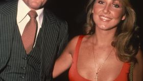 Bruce Jenner and Linda Thompson in NYC in 1990