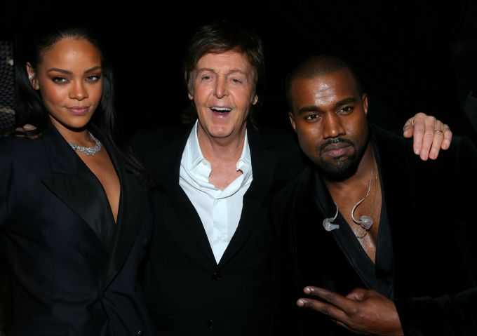 The 57th Annual GRAMMY Awards - Backstage - Rihanna, Kanye West, Paul McCartney