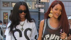 Rihanna and BFF Melissa spotted in NYC 2015