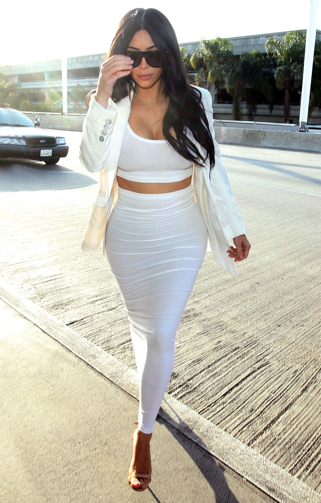 Kim Kardashian at LAX, heading to Brazil
