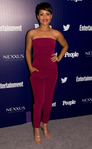 Grace Gealy at Entertainment Weekly and People New York Upfronts Celebration