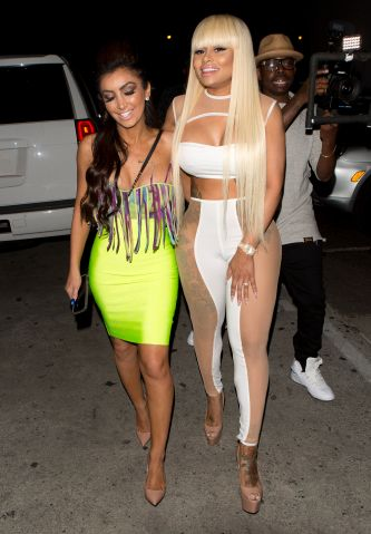 Rapper Tyga's former wife, Blac Chyna celebrated her 27th Birthday at 'Ace Of Diamonds' Strip Club in West Hollywood, CA