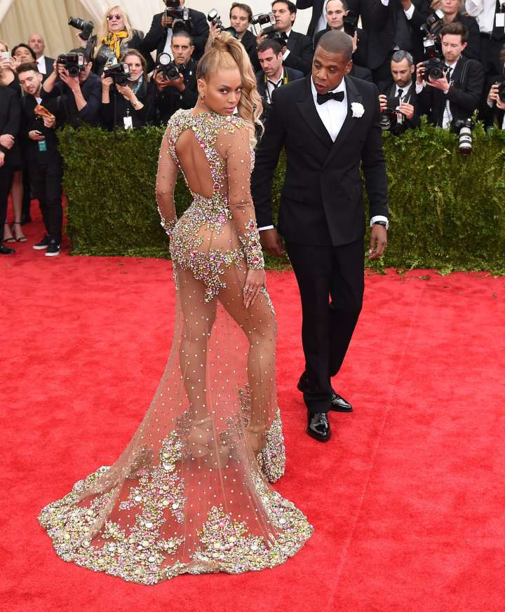 Damn Bey, what's underneath that dress?