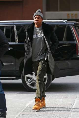 ay-Z arrives at the Roc Nation office in New York City, NY