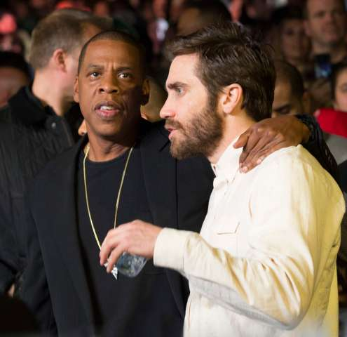 Celebrity guests attend Roc Nation Sports Presents: Throne Boxing at the Theater at Madison Square Garden, NY - Jay Z and Jake G.
