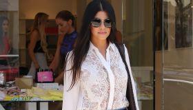 Khloe Kardashian, Kourtney Kardashian, Scott Disick shop at DASH