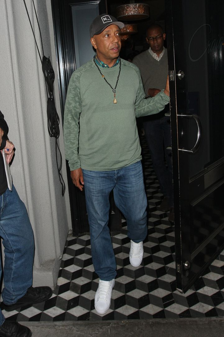 Russell Simmons was spotted leaving Craig's in Los Angeles after having dinner last night.