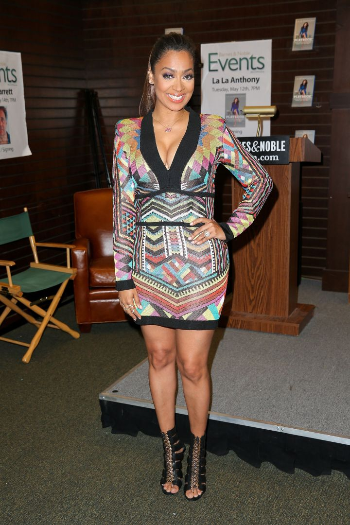 La La Anthony signs and discusses her new book at Barnes & Noble bookstore at The Grove in L.A.