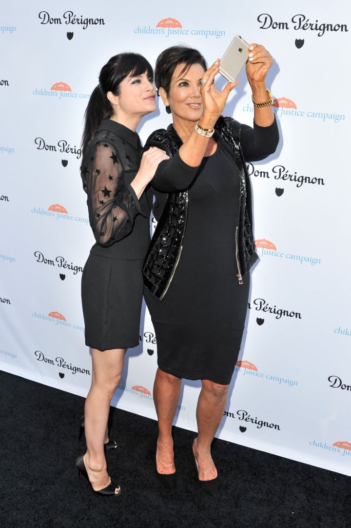 """Selma Blair, who will be playing Kris Jenner in the FX's upcoming series """"American Crime Story: The People V OJ Simpson,"""" takes a selfie with Ms. Jenner as they attend the Children's Justice Campaign Event in Beverly Hills."""