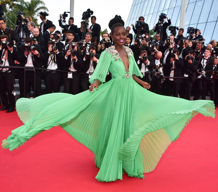 Lupita Nyong'o at the Opening Ceremony & 'La Tete Haute' Premiere at the Cannes Film Festival.