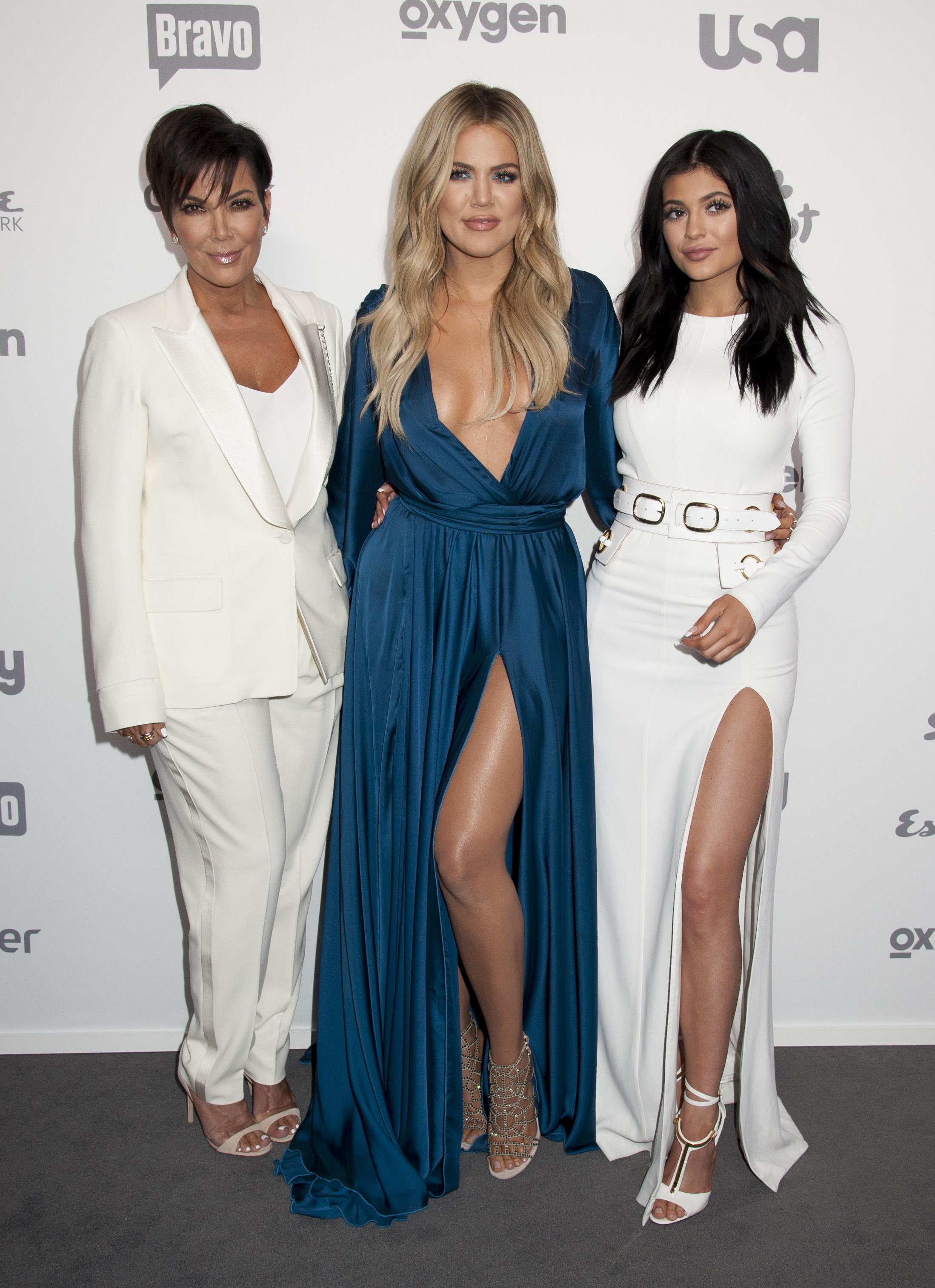 Kylie Jenner, Khloe Kardashian, Kris Jenner at the NBC Universal Upfronts