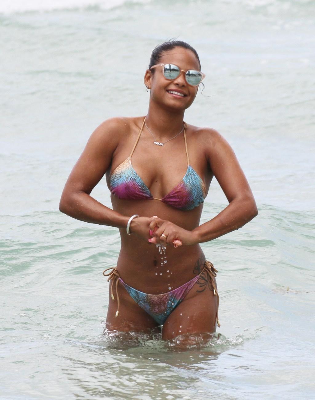 Christina Milian on Miami Beach