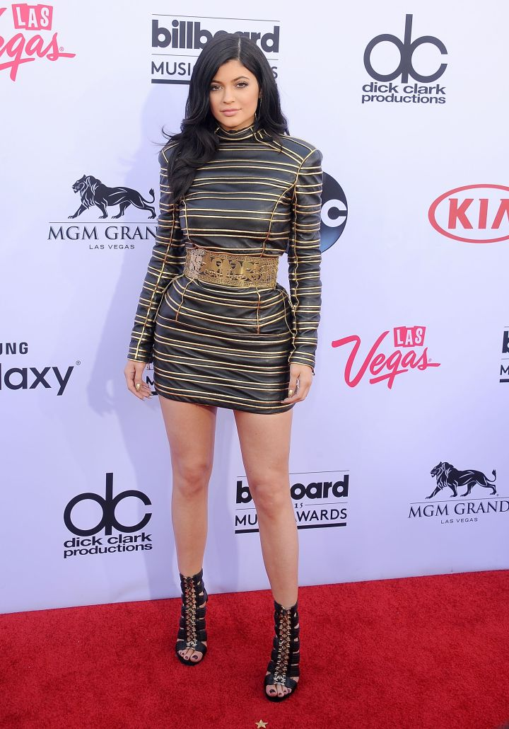 Like big sister Kendall, Kylie Jenner rocked Balmain too.