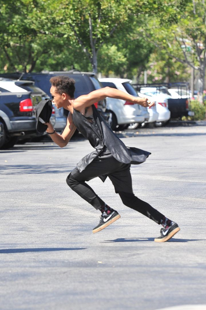 Jaden Smith running top speed for no apparent reason.