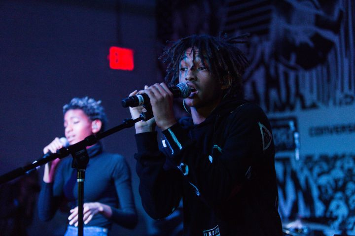 Jaden Smith spitting hot bars with his sister Willow.