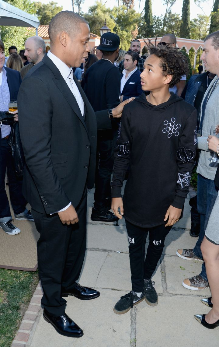 Jaden Smith being totally mesmerized by the size of Jay Z's lips.