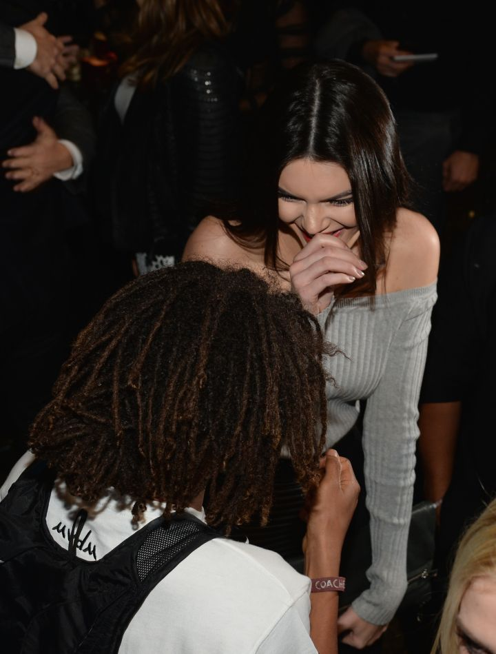 Jaden Smith making Kendall Jenner almost shoot milk out her nose from laughing so hard.