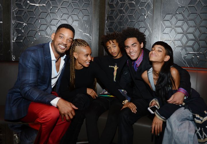 Jaden Smith really enthused about being with the rest of his family.