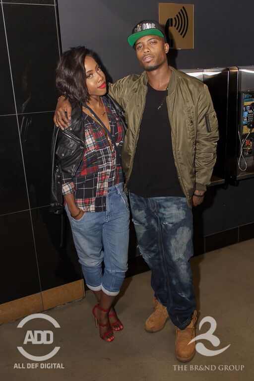 B.o.B and Sevyn Streeter made a date night out of ADD's comedy show.