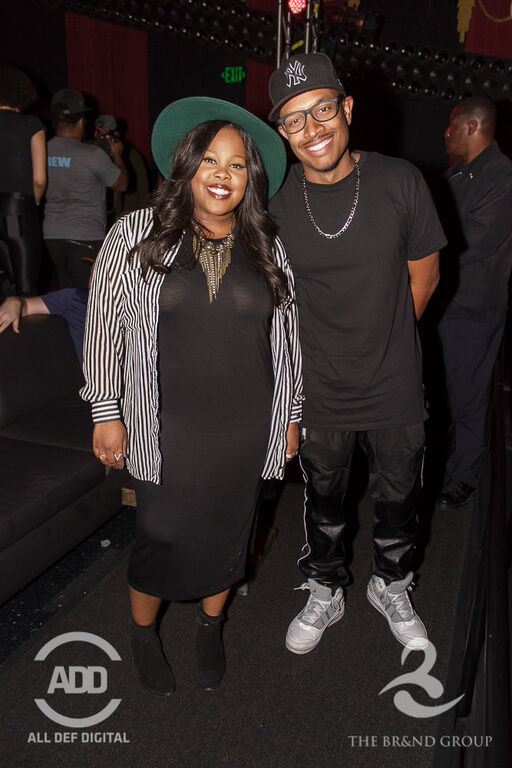 """""""Glee"""" star Amber Riley popped up at All Def Comedy Live to see comedian CP perform for the audience."""
