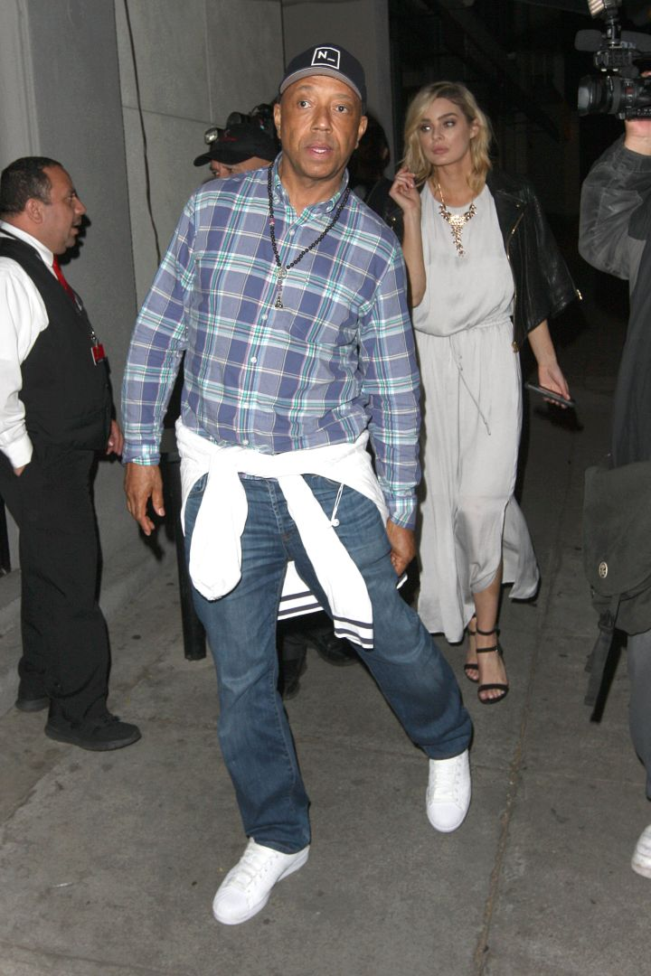 Our main man Russell Simmons was spotted at Craig's having dinner with a friend in Los Angeles.