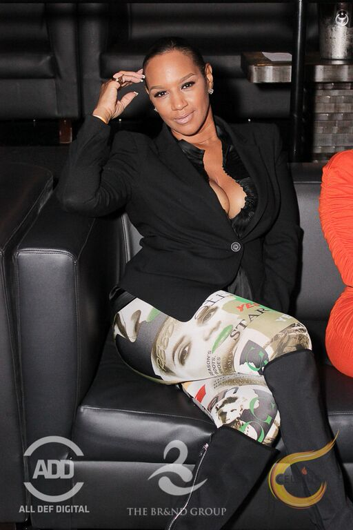 Sitting pretty was Basketball Wives star, Jackie Christie.
