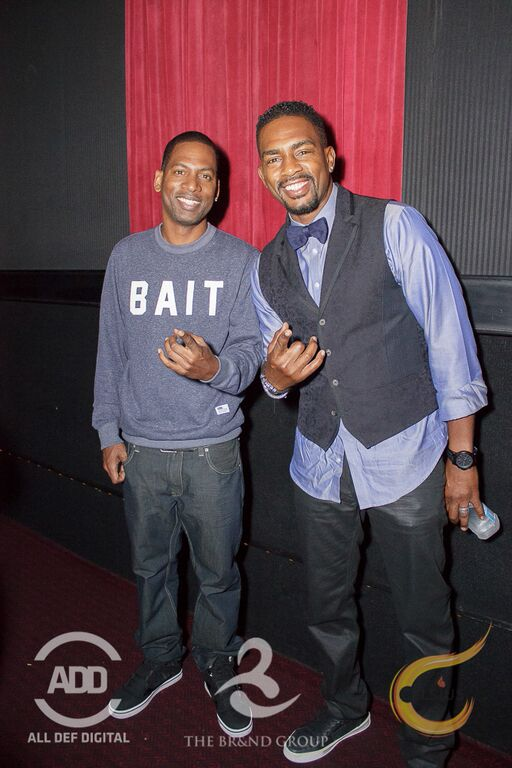 Tony Rock came to support Bill Bellamy.