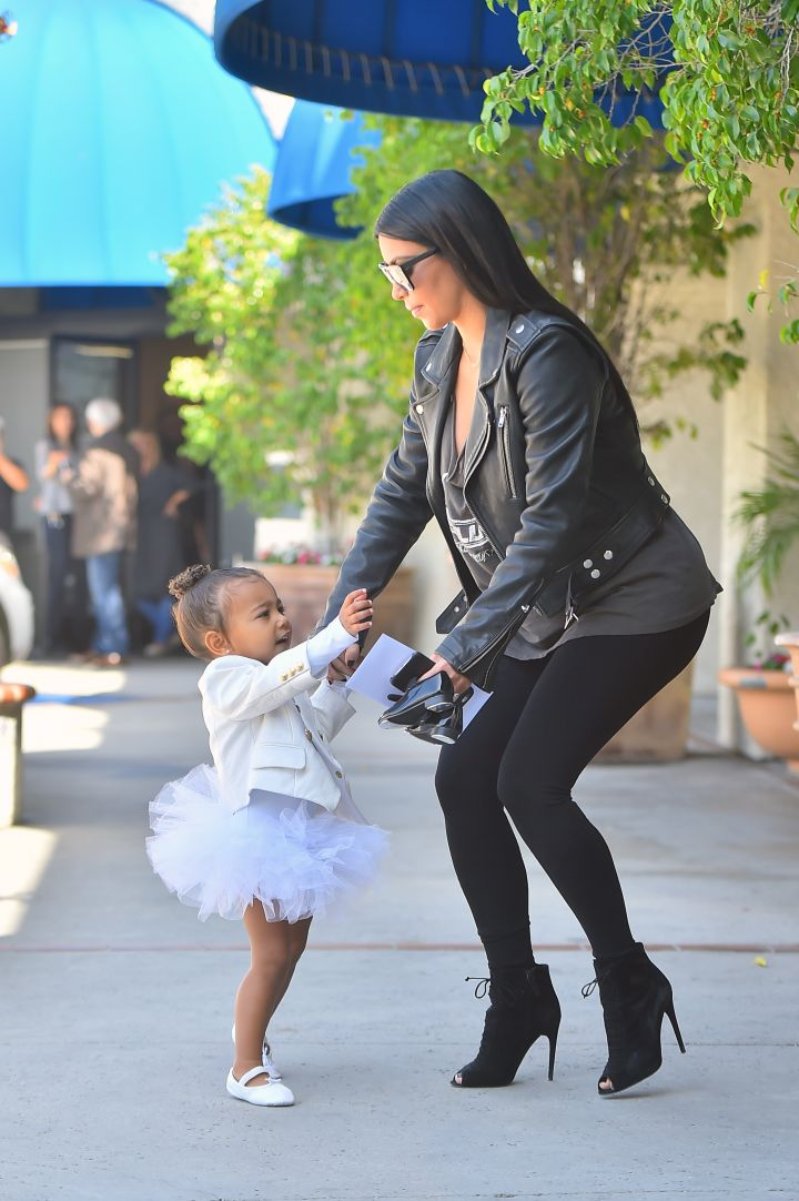 North wasn't feeling the idea of walking after she did her thing at dance class.