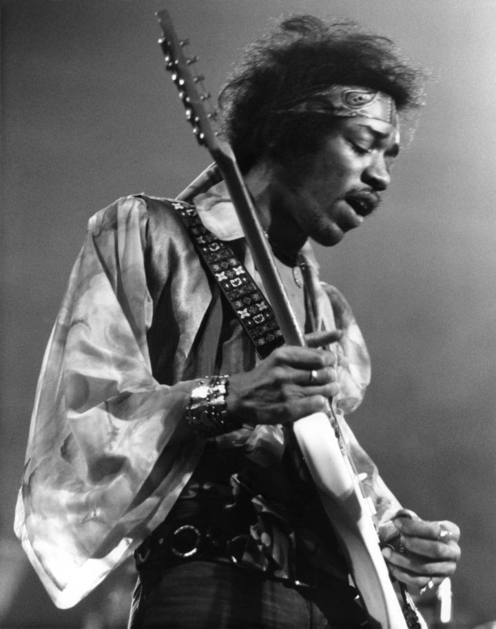 Jimi Hendrix (age 27): died from unknown causes in London, 1970.