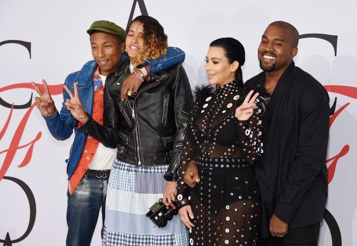 Pharrell, Helen, and KimYe