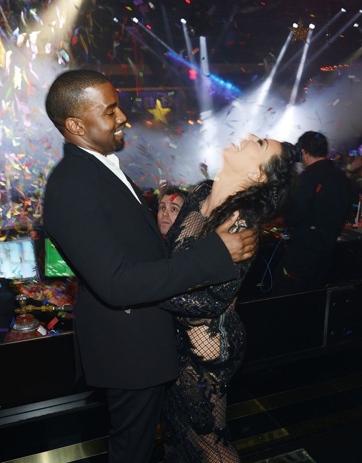 We've never seen KimYe happier.
