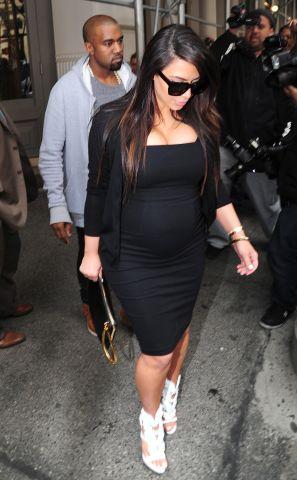 Kim Kardashian pregnant in New York City