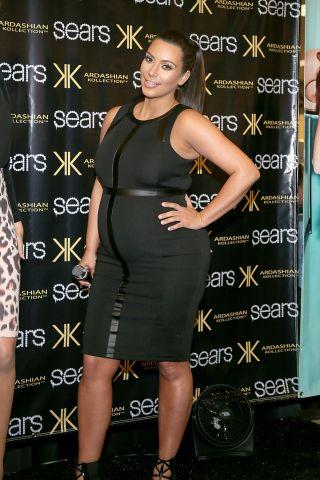 Kim Kardashian pregnant - spring 2013 kardashian collection celebration