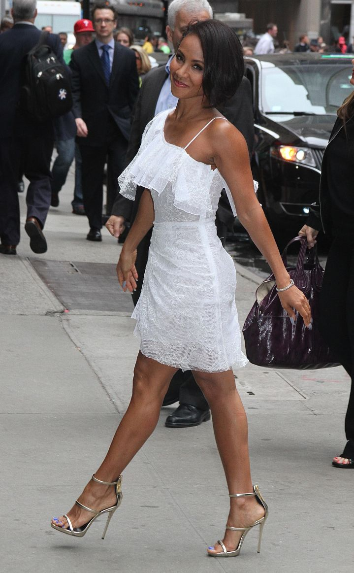 """Jada Pinkett Smith is picture perfect before hitting up """"Good Morning America"""" in New York City."""