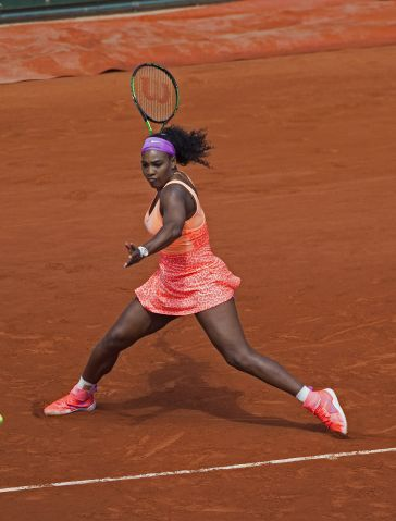 Serena Williams at Roland Garros 2015