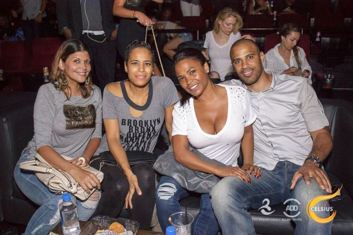 Daphne Wayans and Nia Long smile for the camera at the All Def Comedy Live event presented by Celsius.