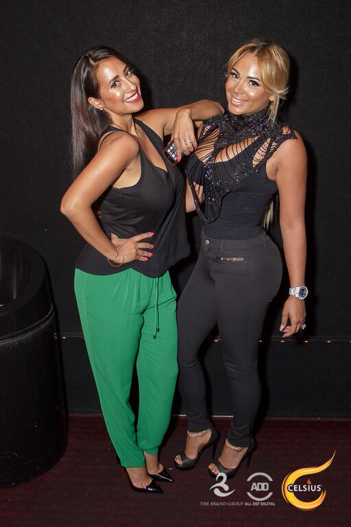Bad Medina and a friend hang out at the All Def Comedy Live event presented by Celsius in L.A.