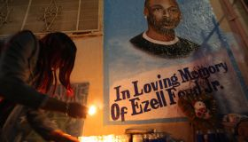 Ezell Ford memorial in Los Angeles, California