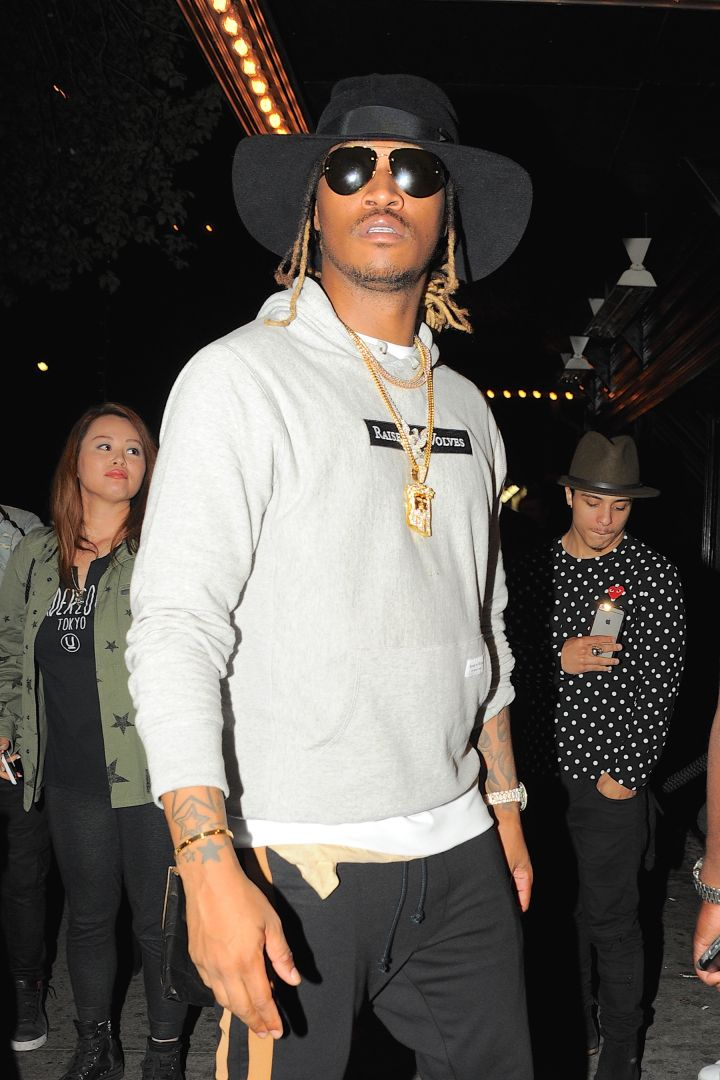 Future added a touch of high fashion with his hoodie